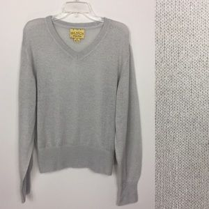 Wildfox White Label Sweater Size M Slouchy Gray
